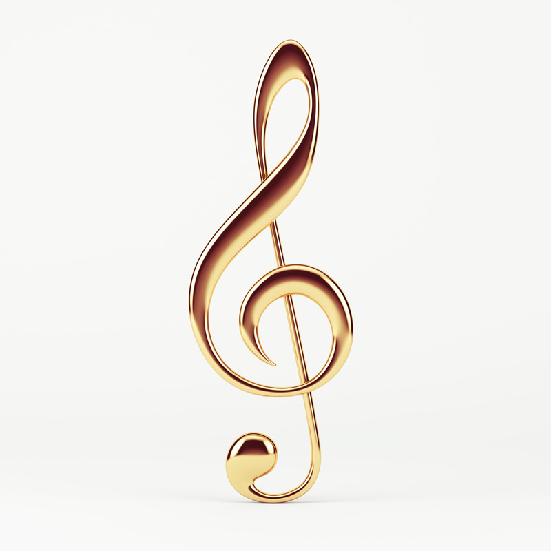 goldener Notenschluessel